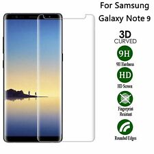 For Samsung Galaxy Note 9 Full Curved 3D Tempered Glass Screen Protector Clear
