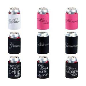 Wedding Stubby Holder Cooler Bridal Party Favour Groomsman Gifts