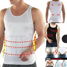 US Mens Slimming Body Shaper Gynecomastia Vest Shirt Tank Top Compression Corset