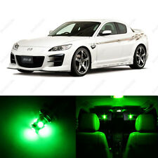 8 x Green LED Interior Lights Package For 2004 - 2011 Mazda RX-8 RX8