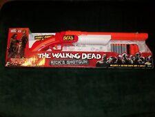 THE WALKING DEAD Rick's Shotgun Double Barrel Soft Dart Gun Buzz Bee Toys NOS!!