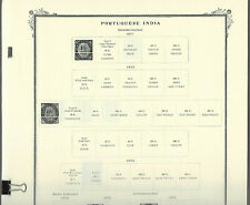 SCOTT SPECIALTY Pages for PORTUGUESE INDIA...1871-1960 (Country CPL.)...33 pgs