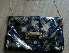 Women's  black and gold handbag metal strap George New without tags