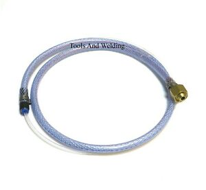 """Mig Welder Gas Pipe Adaptor To Large Co2 Regulator With 3/8"""" BSP To 4.0mm Tubes"""