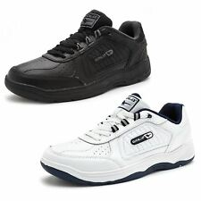 Gola Belmont WF Wide Trainers in White & Black AMA203BB & AMA203WE