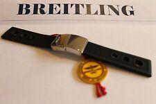 100% Genuine Breitling Black Ocean Racer Rubber Deployment Strap & Clasp 22-20