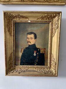 Portrait D'homme XIX Eme Louis Philippe Legion D'honneur Signe 1845