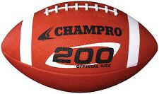 Champro Sports 200 Series Official Rubber Football - Pee Wee or Junior Size