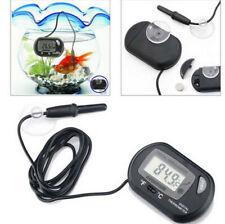 Black Aquarium Temperature Gauge LCD Digital Thermometer For Fish Tank Water