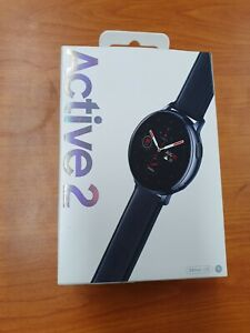 Samsung Galaxy Watch Active 2 44mm Stainless Steel Case with Leather Strap Smart