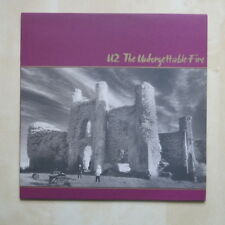 U2 The Unforgettable Fire UK vinyl LP with lyric inner Island Records 1984 Mint