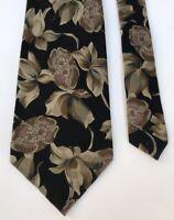 Abbey Cravat Floral Print Design Classy Fancy 100% Silk Men's Neck Tie Ties