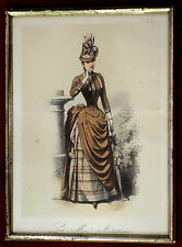 Stahlstich,koloriert,Damenmode,ca 1870.La Mode Artistique