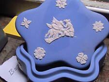 Wedgwood Star Shaped Trinket Box Blue/White Muses Watering Pegasus