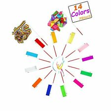 Haawooky 14 Pieces Dancing Ribbons Streamers,Colorful Rythmic Gymnast Bibbon .
