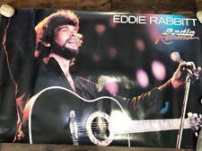 "EDDIE RABBIT RADIO ROMANCE POSTER ELEKTRA RECORDS 22"" X 36"" COUNTRY"