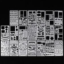 20x DIY Drawing Template Diary Scrapbook Bullet Journal Stencils Plastic Planner