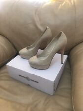 "Aldo Claxton 1"" Platform Pump  Shoes 5"" Heels Color: Bone  Size 7.5"