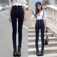New Womens Overall Slim Jean Pants Suspender Jumper Skinny Long Trousers Z1333