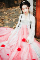 Women Traditional Chinese Hanfu Kimono Dress Cardigan Long Sleeve Tops Shirt
