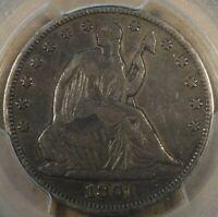 1861 Liberty Seated Half Dollar 50c PCGS Certified VF25 Popular Civil War Date