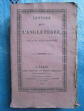 Baron de STAËL-HOLSTEIN : LETTRES SUR L'ANGLETERRE, 1825. E.O.