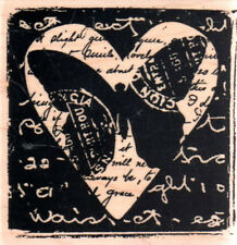 New STAMPINGTON & CO RUBBER STAMP Butterfly Post Heart Collage free us ship
