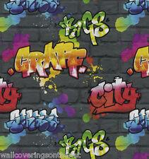Enfants/adolescents graffiti papier peint, imprimé sur un papier texturé