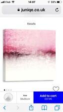 ZAB064 Pink White Lips Lipstick Modern Canvas Abstract Wall Art Picture Prints