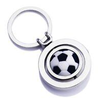 3D Football Keyfob Keyring Rotating Soccer Keychain Chain