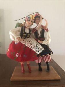 Spoldzielnia Pracy Dolls Polish  Wedding Dancers Krakow Folk Art No tags