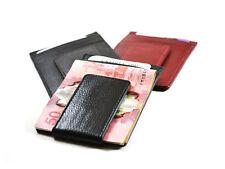 Money Clip Leather Wallet Credit Card slots magnetic Flip Coin Holder