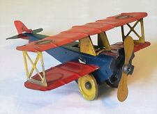 Girard Toys Wind-Up AIR MAIL BI-PLANE AIRPLANE 20's SUPER RARE NICE ORIGINAL