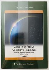 Great Courses Zero to Infinity A History of Numbers Science & Math DVDs + Book