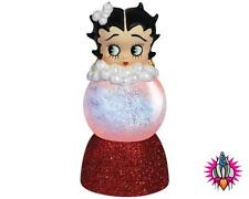 "BETTY BOOP SPARKLER WATER GLOBE 3 1/2"" FIGURE FIGURINE LIGHTS UP BOXED 24006"