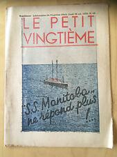Tintin - Hergé - Le Petit Vingtieme du 29 octobre  1936 - N43 -TBE