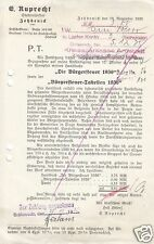 Rechnung, E. Ruprech, Stadtinspektor, Zehdenick, 18.11.35