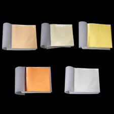 100 Sheets DIY Gold Foil Leaf Gilding Handicrafts Craft Paper Decoration Tools @