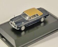 Oxford Diecast 76RRC001 Rolls Royce Corniche in Indigo Blue 1 76