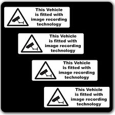 Pack of 4 CCTV image recording fitted Warning Stickers Sign Car Taxi Home Window