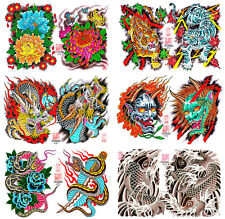 Henning Japanese Traditional Vintage Style Tattoo Flash 6 Sheets 11x14