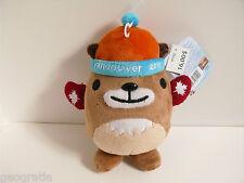 """Canada Vancouver 2010 Olympics Mascot MukMuk RED MITTEN Plush 7.5"""" New Muk Muk"""