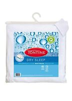 Tontine Dry Sleep Waterproof KING SINGLE Fitted Mattress Protector 107 x 208cm