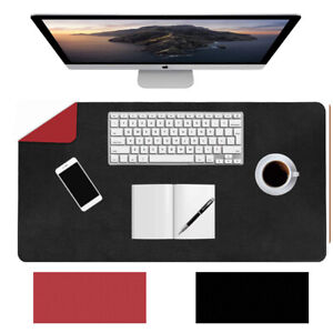 Multifunctional Dual-Sided Desk Pad Mat PU Leather Desk Cover Protector Non-Slip
