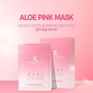 JAYJUN ALOE Pink Facial Essence10PCS/ Flower Complex Lotus Sheet Korea Cosmetics
