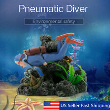 Diver Hunter Treasure Frogman Coral Reef Ornament Resin Fish Tank Decoration