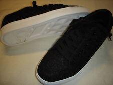 Isaac Mizrahi Live Jina Crochet Lace-Up Sneakers Womens Shoes 12 M Black +