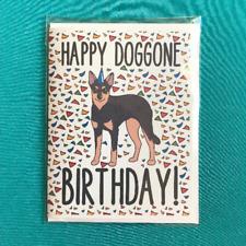Australian Kelpie Dog Happy Birthday Card Handmade Celebration Note Card