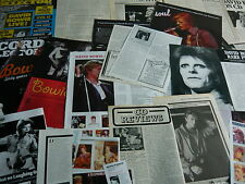 DAVID BOWIE - MAGAZINE CUTTINGS COLLECTION (REF XD4)
