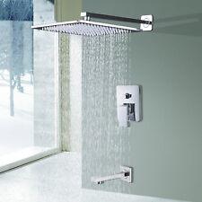 8 inch Rainfall Mixer Shower Faucet Combo System Set Tub Filler Mixer Tap Chrome